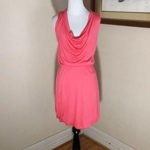 H&M pink sleeveless draped neckline dress. Size 2